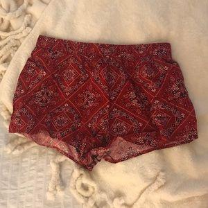 Bandana Flowy Shorts